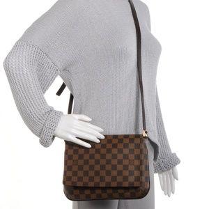 Authentic Louis Vuitton Tango Musette Damier Ebene